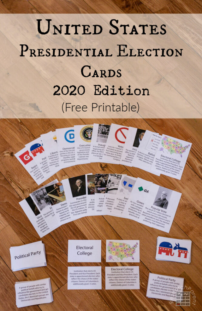 2020 United States Presidential Election Cards
