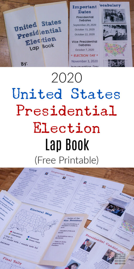 2020 United States Presidential Election Lap Book