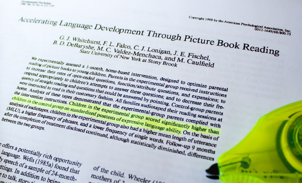 Accelerating Language Development Through Picture Book Reading
