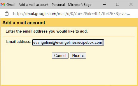 Add a Mail Account to Check