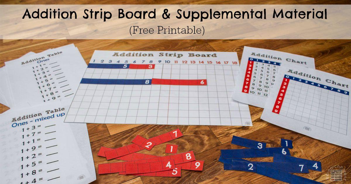 Addition Strip Board Complete Set