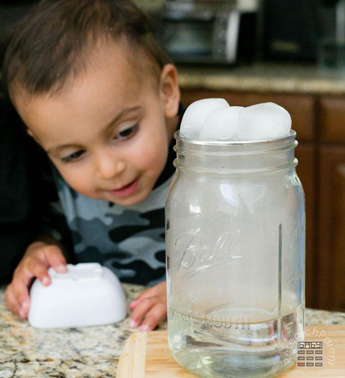 A cloud inside of a jar