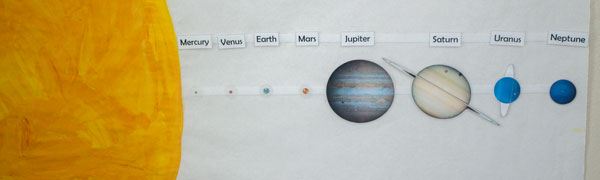 image about Printable Planets to Scale identified as Relative Measurements of Planets -