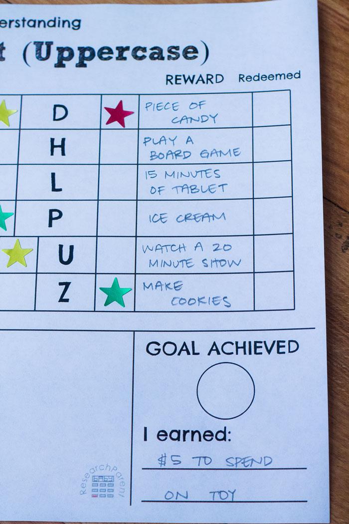 Alphabet Star Chart Rewards