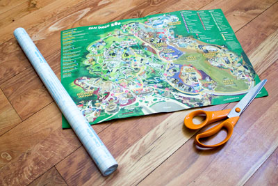 Amusement Park Map Activity Supplies