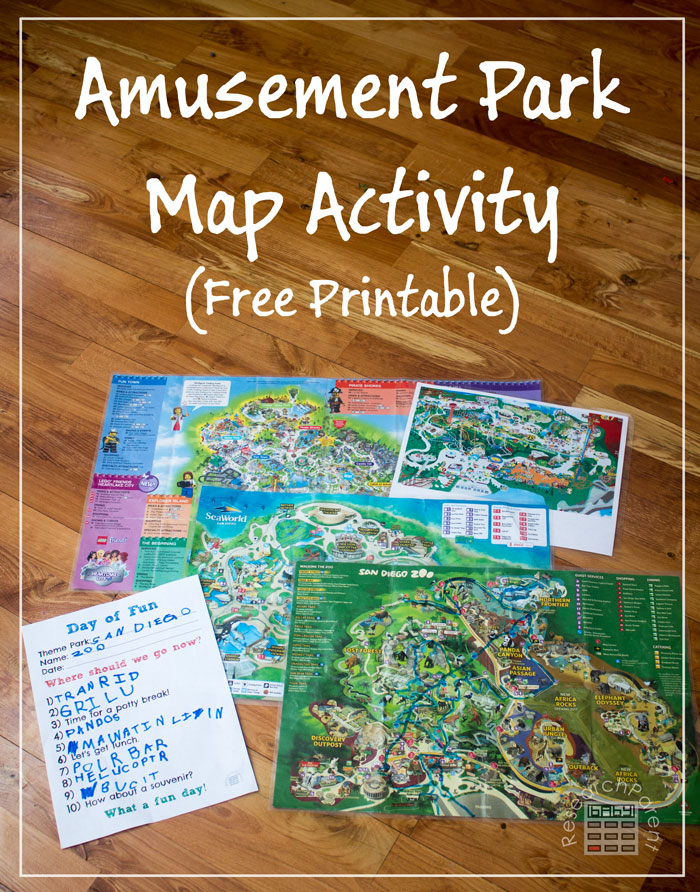 Amusement Park Map Activity