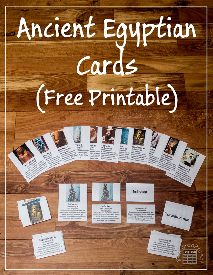 Ancient Egyptian Cards by ResearchParent.com