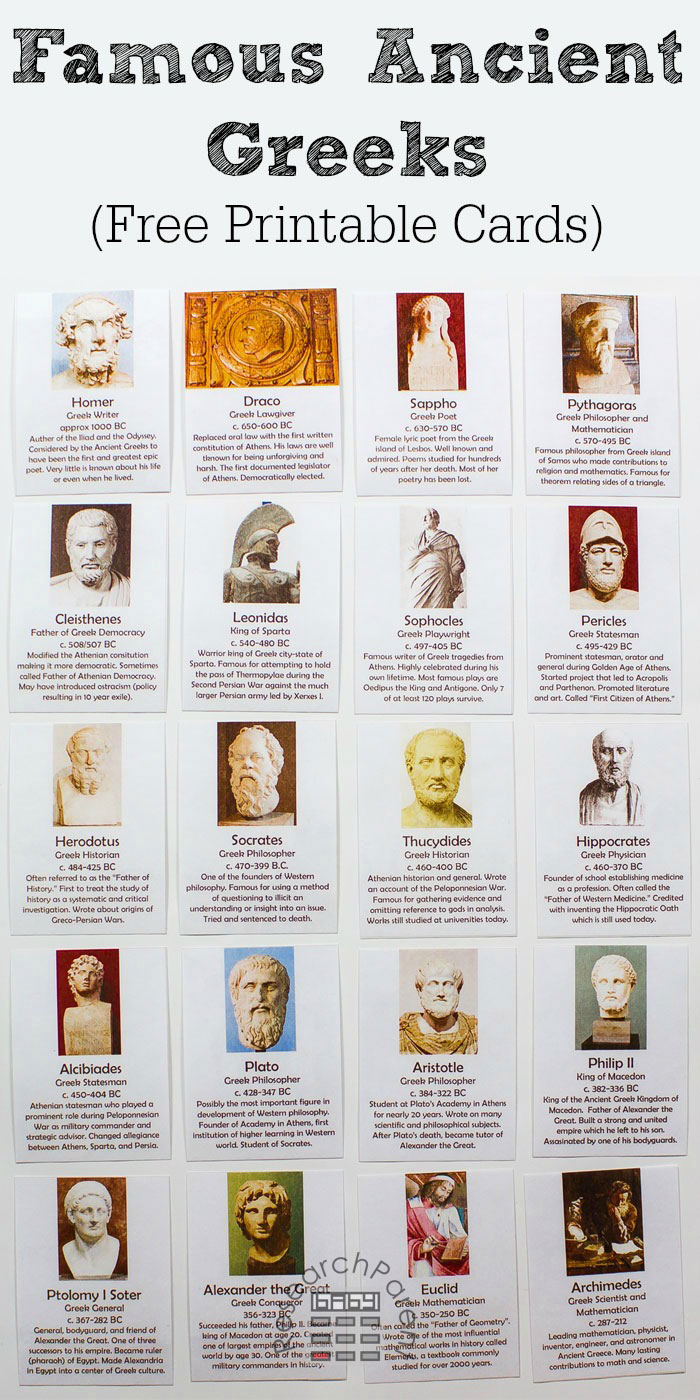 Ancient Greece Historical Figures Full Set