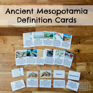 Ancient Mesopotamia Definition Cards