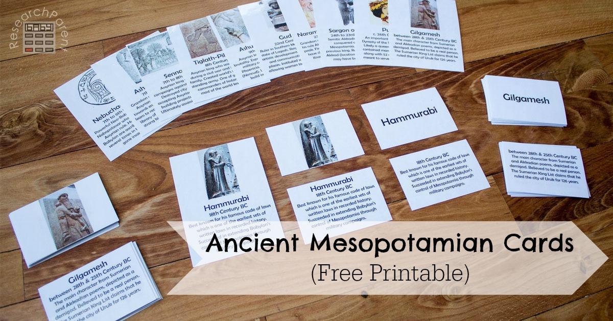 Ancient Mesopotamian Cards Facebook