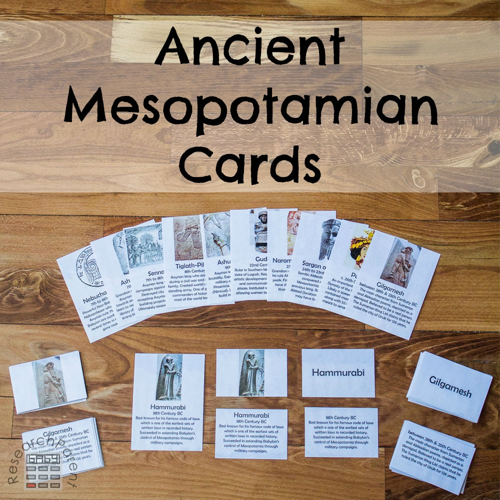 Ancient Mesopotamian Cards (Free Printable)