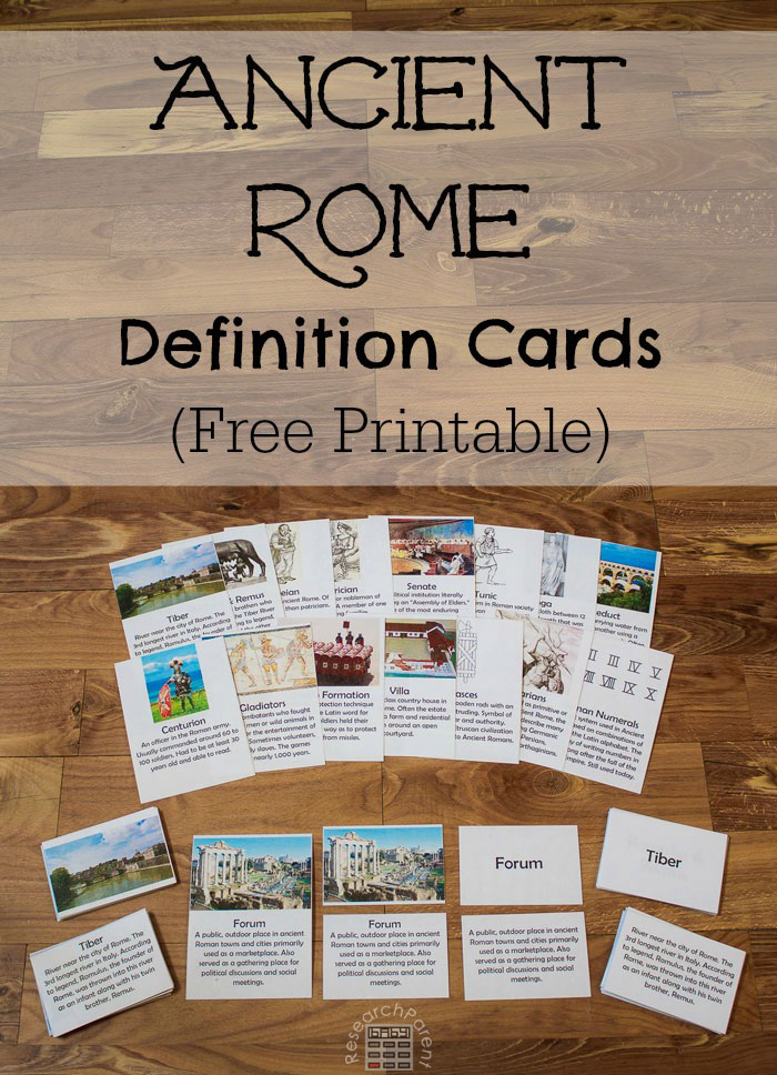 Ancient Rome Definition Cards