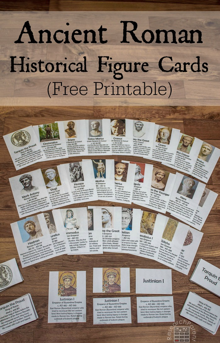 Ancient Roman Historical Figure Cards