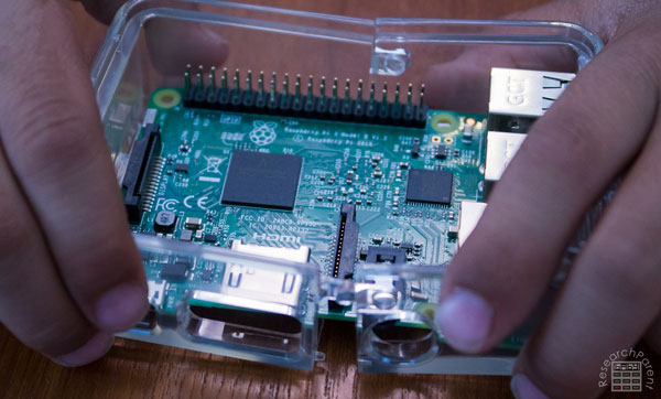 Assemble the case for your Raspberry Pi