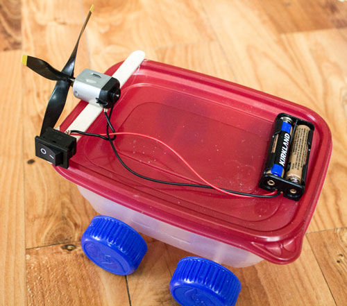 Hot Glue Motor to Lid