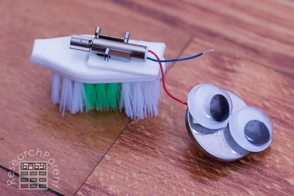 Attach motor to toothbrush head