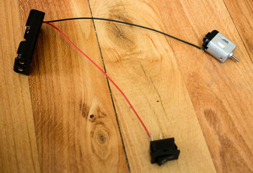 Attach Other Battery Pack Lead to Motor