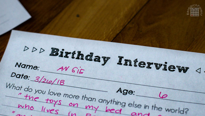 Birthday Interview Name