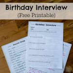 Birthday Inteview Form (Free Printable)