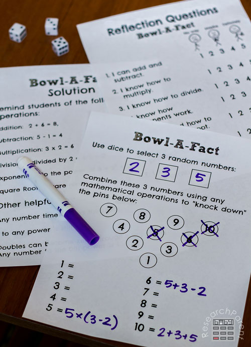 Bowl-A-Fact Task