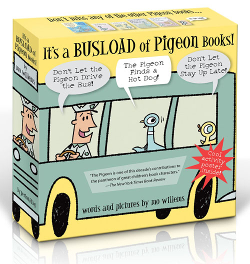 Busload of Pigeon Books by Mo Willems