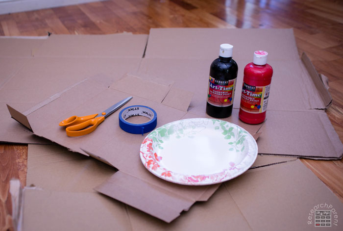 Cave Painting Activity Supplies