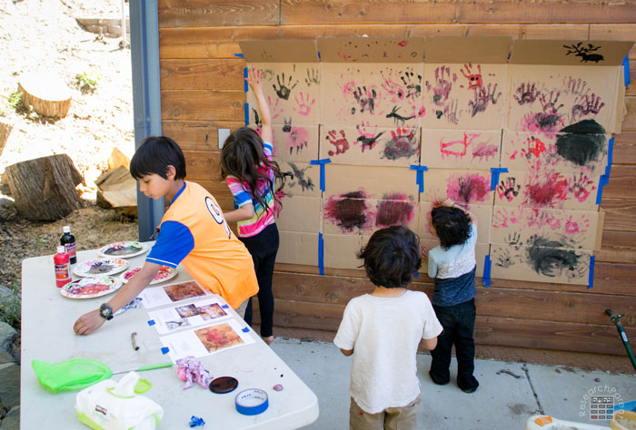 Cave Painting Activity Wide View