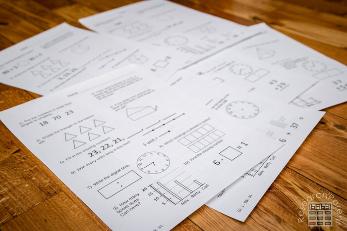 Minimalist Math Curriculum Grade 1