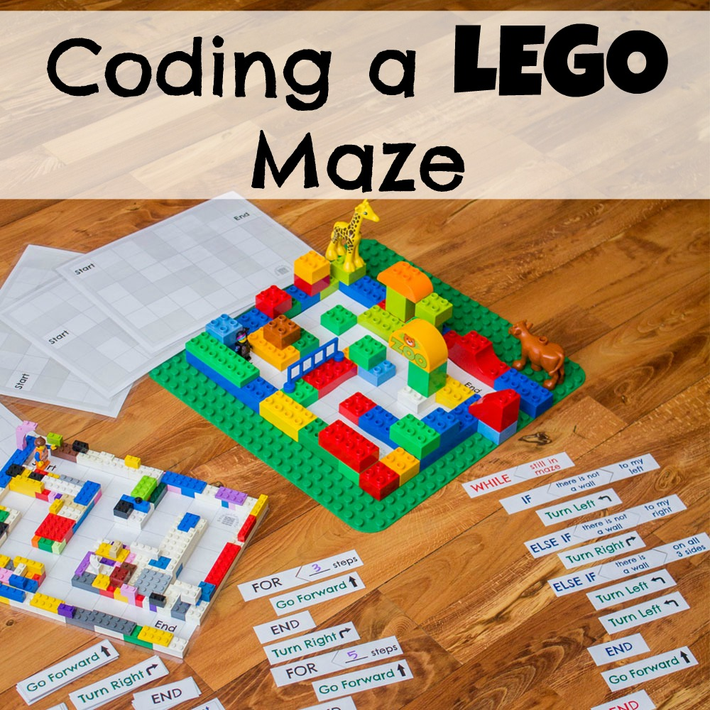 Coding A Lego Maze on Free Learning Printables