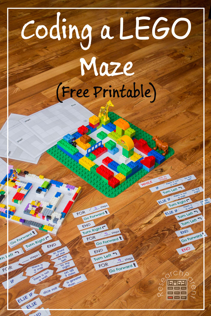 coding a lego maze - Kids Free Printable Activities