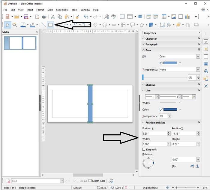 Create a guide rectangle