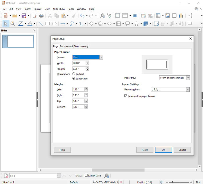 Create the Cover File in Libre Impress