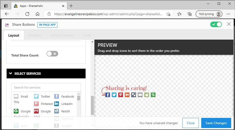 Customizing Share Buttons