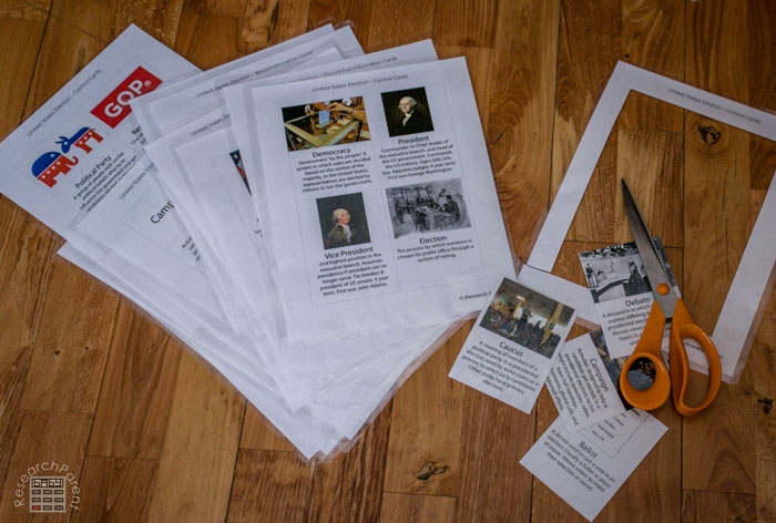 Cut out presidential election cards