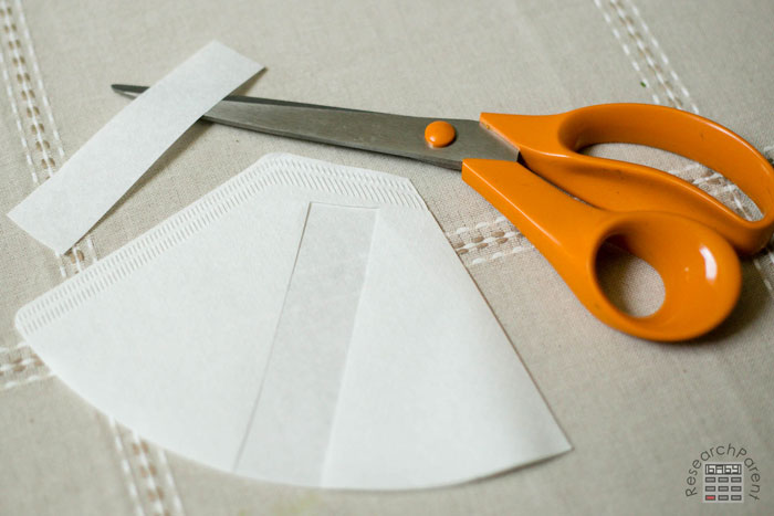 Cut a Strip out of Coffee Filter Paper