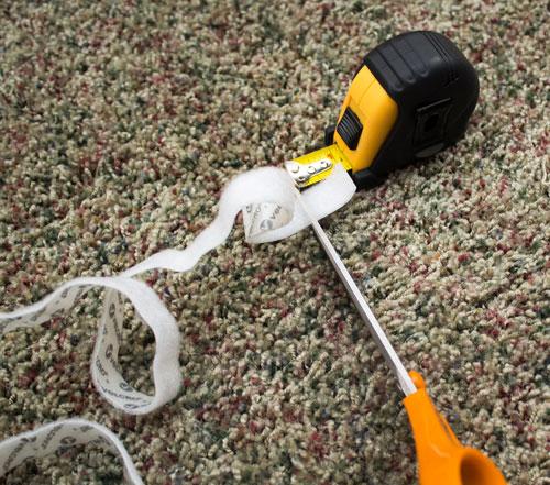Cut off an Inch of Soft Velcro