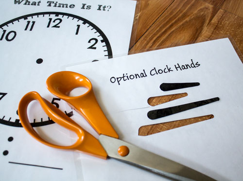 Cut out Clock Hands