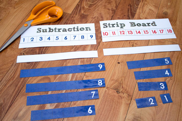 Cut out Laminated Subtraction Strip Board Pieces