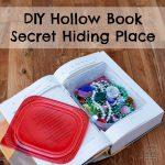 DIY Hollow Book Secret Hiding Place