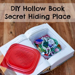 DIY Hollow Book Secret Hiding Place