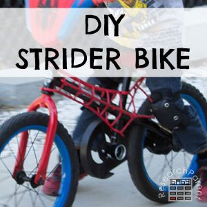 DIY No Pedal Balance Bike