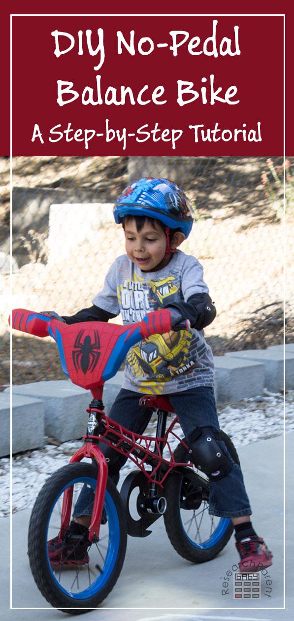 DIY Balance Bike - A step-by-step tutorial. #BalanceBike #No-Pedal #LaughLearnLinkup