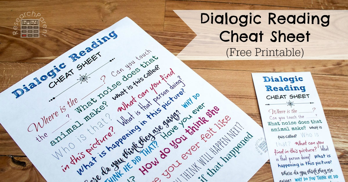 dialogic reading cheat sheet researchparentcom