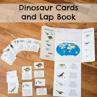 Dinosaur Cards and Lap Book by ResearchParent.com