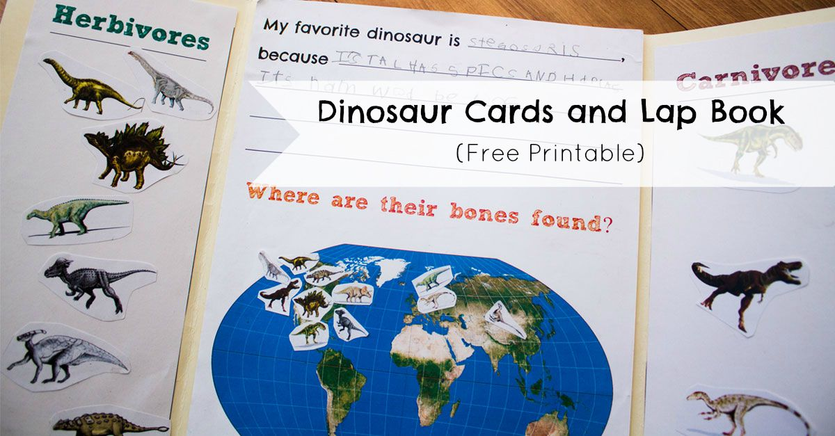 Dinosaur Cards and Lap Book - ResearchParent.com