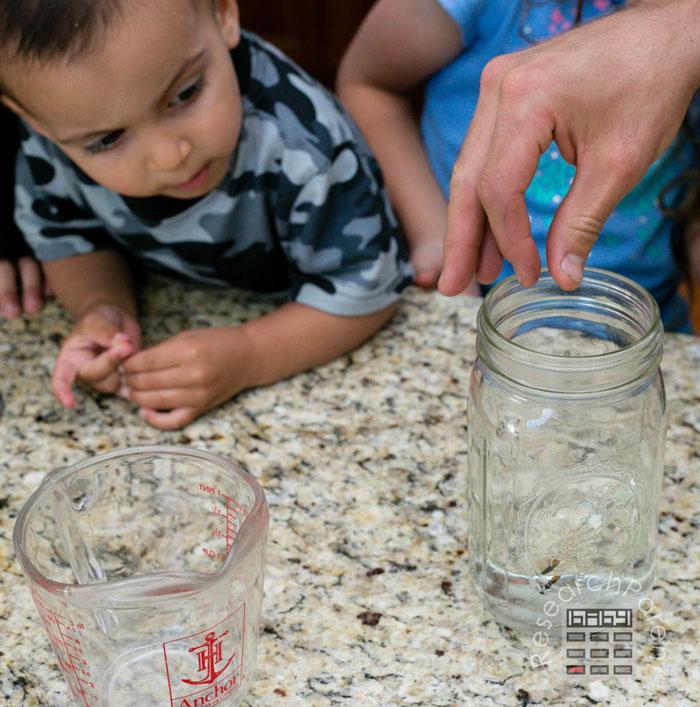 Drop Match in Jar