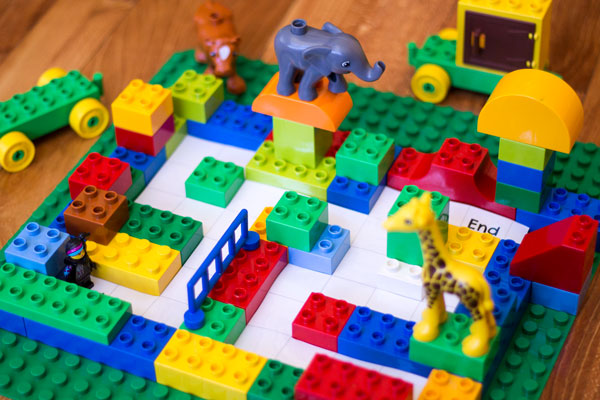 DUPLO Maze Ready for Coding