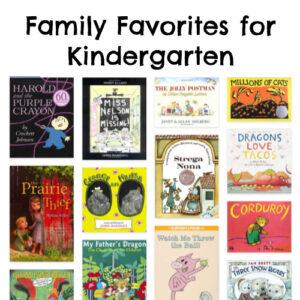 Family Favorites for Kindergarten