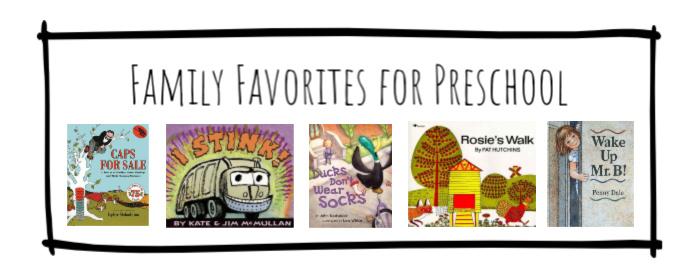 Family Favorites for Preschool