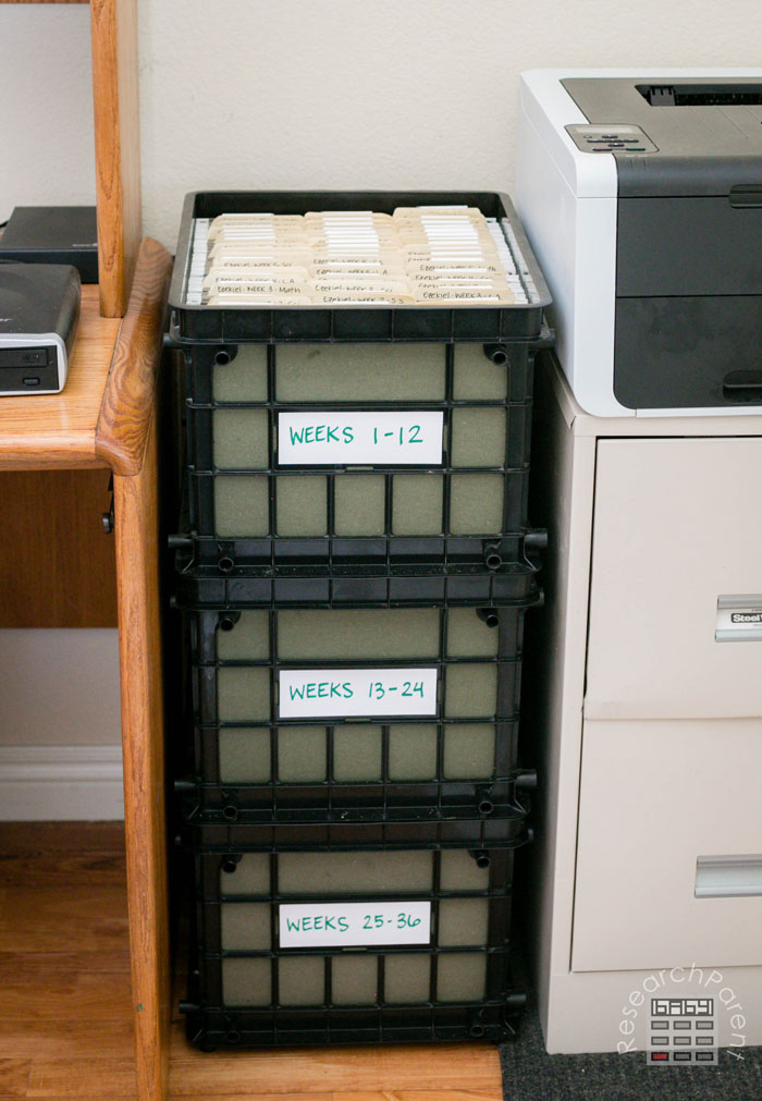 Find somewhere to put the stack of crates with easy access
